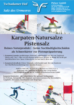 Flyer Pistensalz